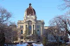 East view in winter Saskatchewan Legislature Royalty Free Stock Photo