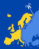 East vs Western Europe Stock Photo