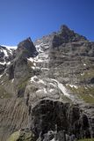 East wall of Eiger mountain. In the area of Grindelwald in the swiss mountains royalty free stock photos