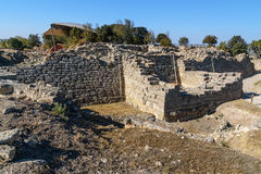 The East wall and gate in ancient city Troy. Turkey Stock Photography
