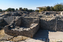The East wall and gate in ancient city Troy. Turkey Royalty Free Stock Photography