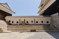 East wall of Sujigane Gate of Matsuyama castle, Japan Royalty Free Stock Photos