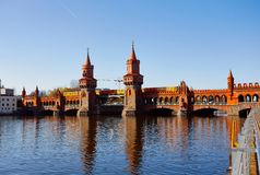 East west bridge in Berlin royalty free stock photography
