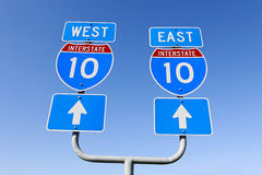 East west decision on major interstate in the us Stock Photo