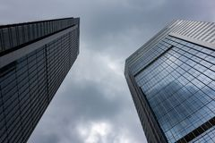 East-West Twin Towers of Tianhe City stock photos