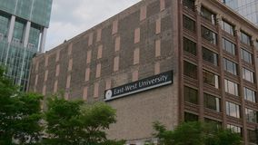 East-West University in Chicago - CHICAGO, UNITED STATES - JUNE 11, 2019. East-West University in Chicago - CHICAGO, USA - JUNE 11, 2019 stock footage