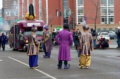 East Winds Crew Entertain at Carnival. Saint Paul, Minnesota, USA – January 30, 2016: Euros Prince of East Winds and crew entertain crowd in Saint Paul Stock Photo
