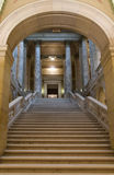 East Wing Entryway. Interior of Minnesota State Capitol under arch of East Wing at base of stairs stock photos