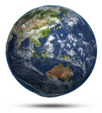 East world map Royalty Free Stock Photo