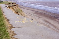 East Yorkshire Coast Erosion Stock Photo