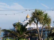 Eastborne pir i solsken Royaltyfria Bilder