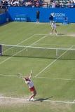 Eastbourne 2011 Quarter-finals. Vera Zvonareva vs Samantha Stosur at Eastbourne 2011 quarter-final Stock Photos