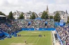 Eastbourne 2011 Quarter-finals. Vera Zvonareva vs Samantha Stosur at Eastbourne 2011 quarter-final Royalty Free Stock Image