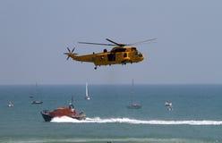 Eastbourne 2012 transportado por via aérea imagens de stock