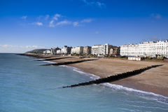 Eastbourne Beach. Eastbourne, East Sussex, on the South Coast of England stock image