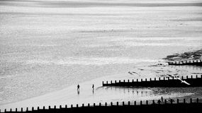 Eastbourne Beach. Afternoon calm at the beach in Eastbourne, England Royalty Free Stock Images