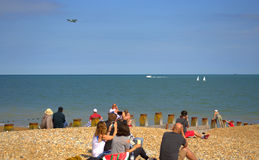 Eastbourne beach Airshow United Kingdom Royalty Free Stock Photos