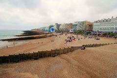 Eastbourne beach, England Royalty Free Stock Images