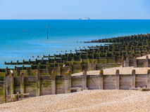 Eastbourne beach at English chanel, United Kingdom Royalty Free Stock Photos