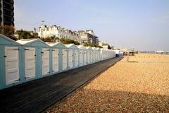 Eastbourne beach huts. Stock Photos