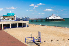 Eastbourne East Sussex. The seafront and Pier at Eastbourne East Sussex England UK Stock Image