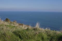 Eastbourne, Engeland - weiden en hemel stock fotografie