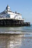 EASTBOURNE, HET OOSTEN SUSSEX/UK - 15 FEBRUARI: Mening van Eastbourne Pi Royalty-vrije Stock Afbeelding