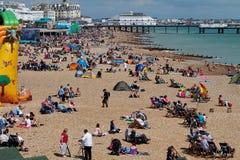 Eastbourne l'août 2011 aéroporté Image libre de droits