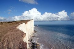 Eastbourne, le Sussex, cap Bévésiers Photo stock