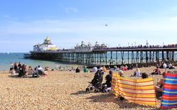 Eastbourne molo Zjednoczone Królestwo Fotografia Royalty Free