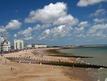 Eastbourne na costa inglesa foto de stock