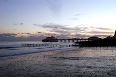 Eastbourne Pier. In the evening Royalty Free Stock Image