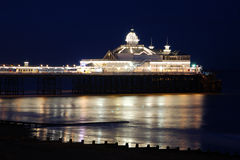 Eastbourne Pier. A night shot of the Eastbourne Pier Stock Photography
