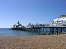Eastbourne Pier. A general view of Eastbourne Pier pictured in the city of Eastbourne, in the UK. A short drive away from London is the elegant southern coast royalty free stock image