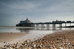 Eastbourne pier. The Eastbourne pier on a nice hot sunny May day royalty free stock photography