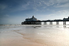 Eastbourne pier. The Eastbourne pier on a nice hot sunny May day Royalty Free Stock Images