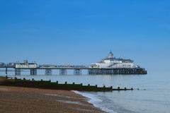 Eastbourne pier. The pier at Eastbourne on a sunny day Royalty Free Stock Photo
