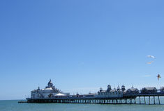 Eastbourne Pier. On a sunny day-east sussex-uk Royalty Free Stock Photos