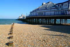 Eastbourne pier. On a clear sunny day Royalty Free Stock Photo