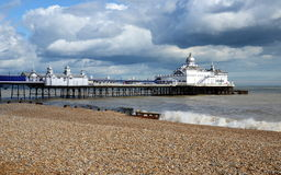 Eastbourne Pier and beach, East Sussex, England, UK. Stock Photo