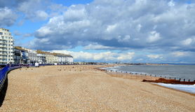 Eastbourne Pier and beach, East Sussex, England, UK. Stock Photography