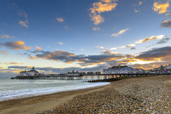 Eastbourne Pier and beach, East Sussex, England, UK Stock Photography