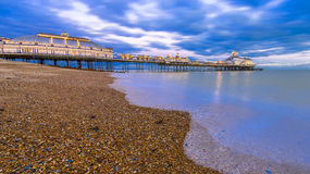 Eastbourne Pier and beach, East Sussex, England, UK Royalty Free Stock Photo