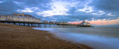 Eastbourne Pier and beach, East Sussex, England, UK Royalty Free Stock Photos
