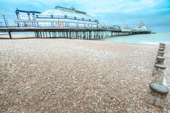 Eastbourne Pier at dusk, East Sussex, UK Stock Image