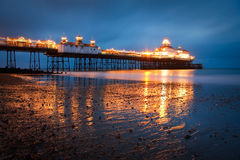 Eastbourne pier at dusk. Royalty Free Stock Images