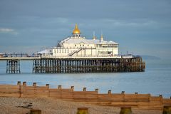 Eastbourne pier. East Sussex, as the sun sets Stock Image