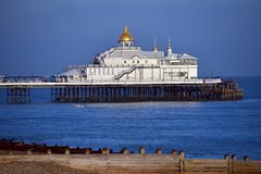 Eastbourne pier. East Sussex, UK, on a sunny evening royalty free stock photography