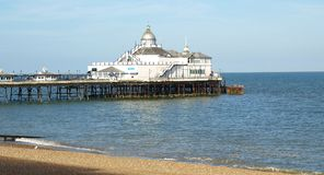 Eastbourne Pier. Before the fire. East Sussex Royalty Free Stock Photo