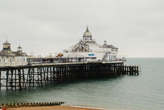 Eastbourne pier, England. The Victorian pier at Eastbourne in East Sussex, England on August 16, 2009 Stock Photography